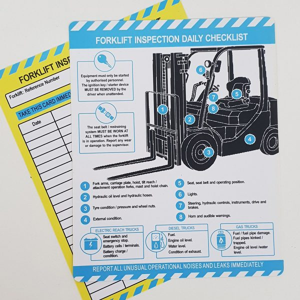 daily forklift inspection guide
