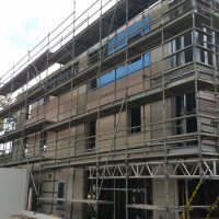 commercial scaffolding project